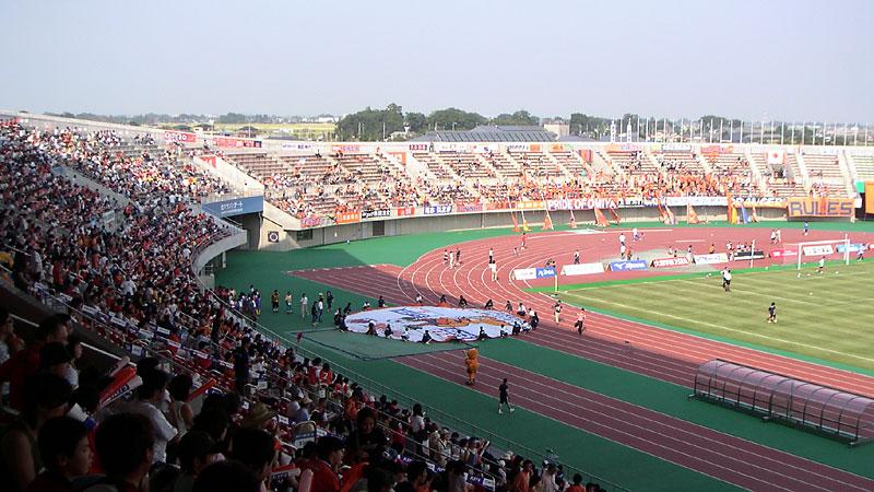 熊谷スポーツ文化公園陸上競技場メインスタンドより