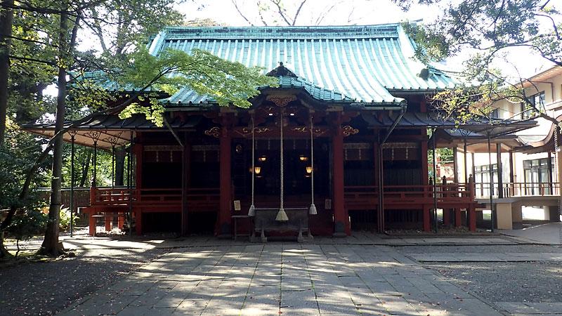 赤沢氷川神社拝殿