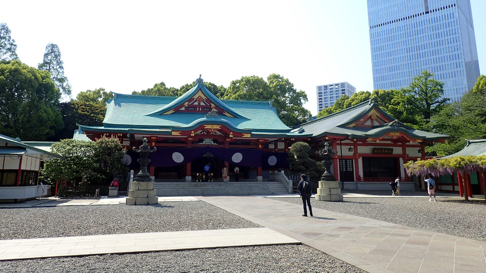 日枝神社境内