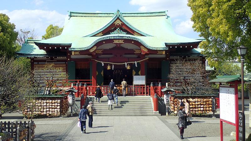 亀戸天神社拝殿