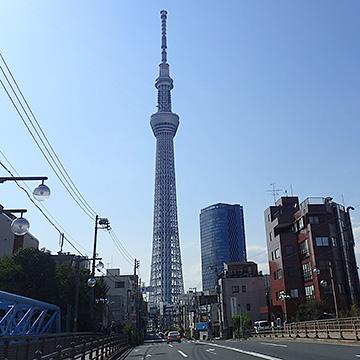 亀戸方面から東京スカイツリー