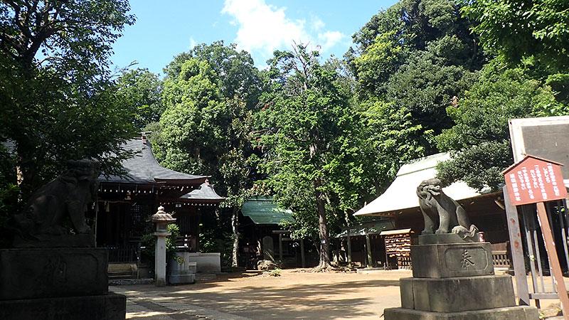 志村熊野神社の拝殿と絵馬殿