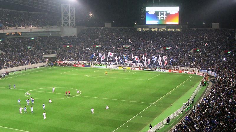 埼玉スタジアム日本代表戦ゴール裏