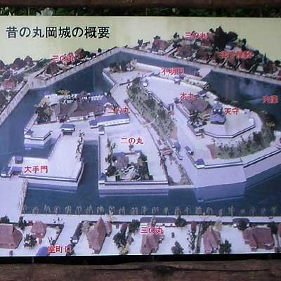 丸岡城案内図