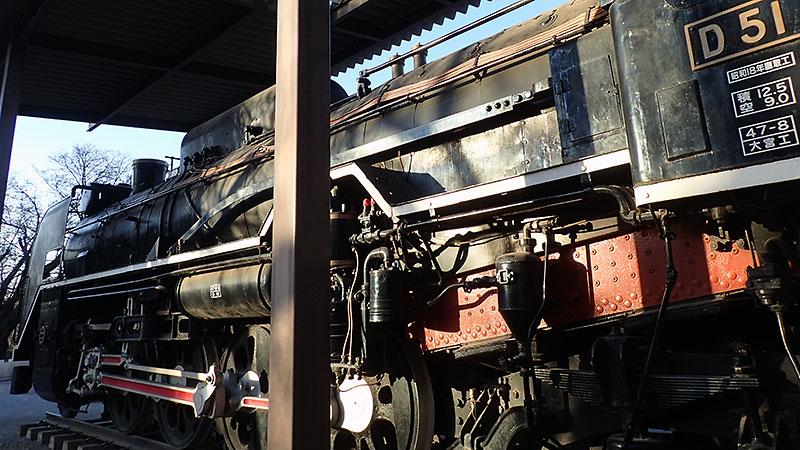 飛鳥山公園の蒸気機関車(D51の853)