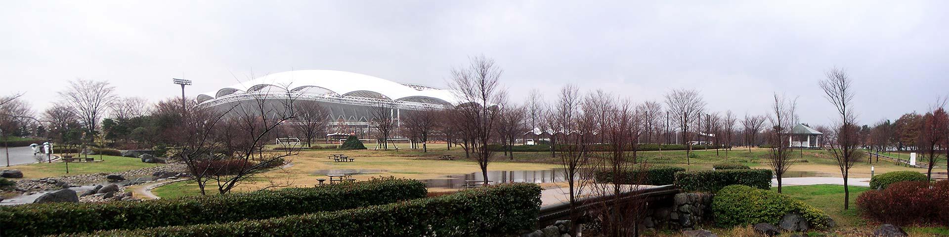新潟スタジアム周辺の公園