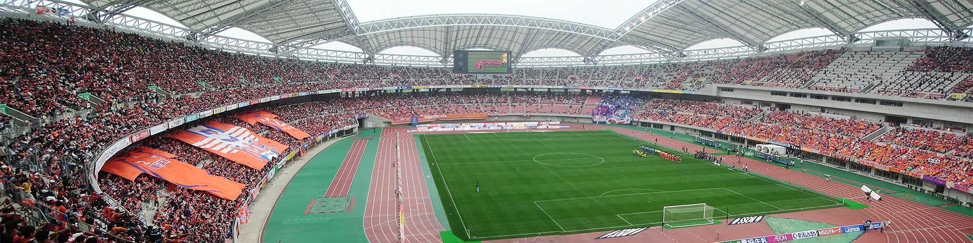 新潟スタジアムのビックユニフォーム
